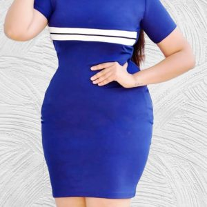 M L Front Stripes Dress