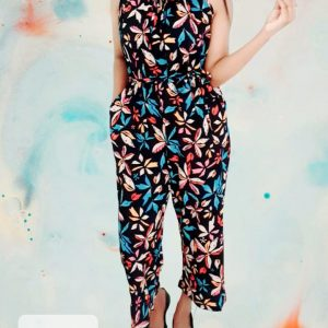 Printed Sleeveless Jump Suit